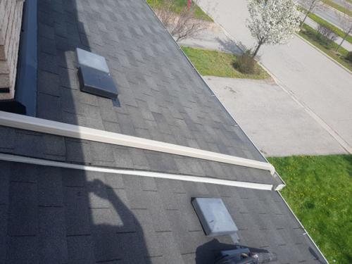 Reshingled roof