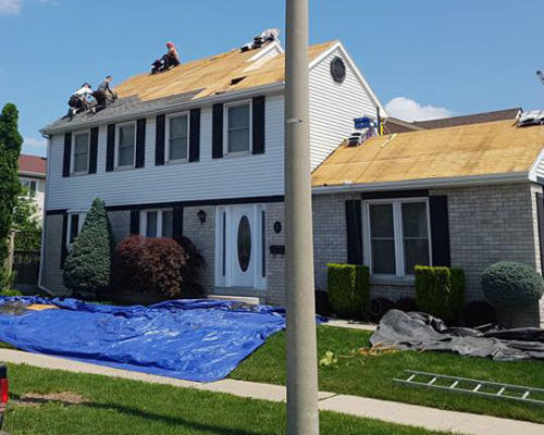 Roof Replacement in Brampton - During