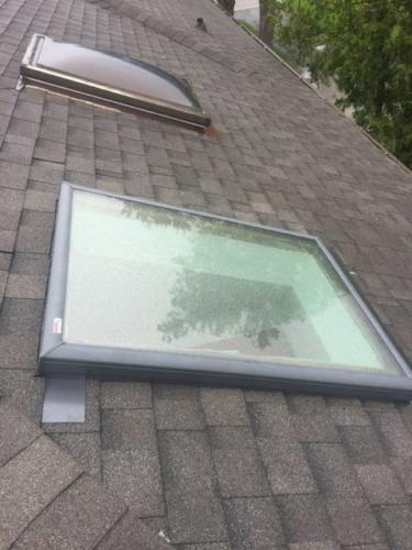 Skylight Replacement with New Flashing