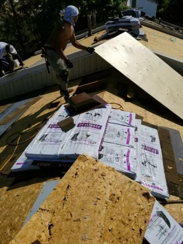 New Roofing Material Installation