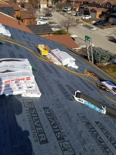 New Roofing Materials Being Installed