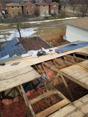 Removal of Original Roofing Materials