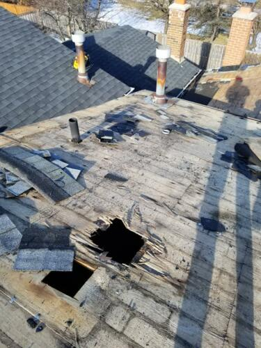 Removal of Original Roof