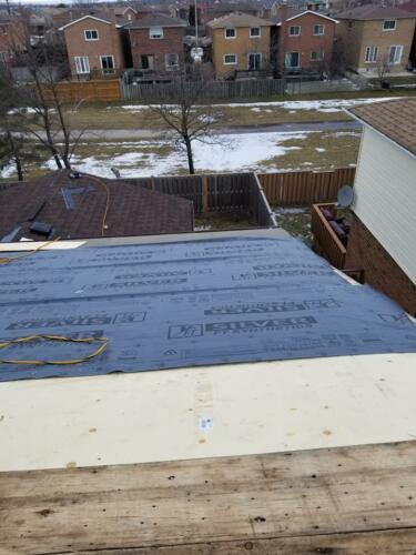 New Roofing Materials Installation