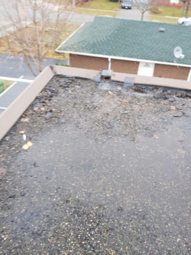 Flat Roof Repair - Before