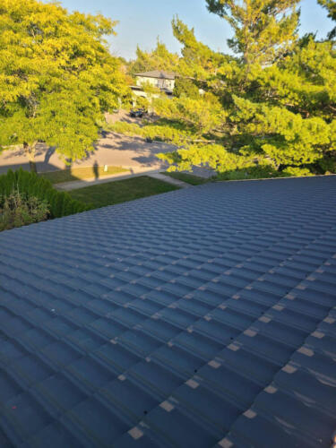 Metal Roof Close Up View