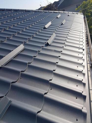Metal Roof Close Up