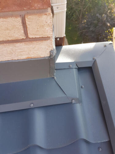 Steel Metal Roof - close up