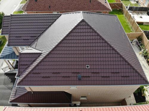Steel Metal Roof Aerial View