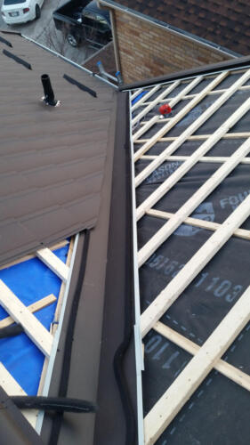 Wood Strapping Metal Roof Installation